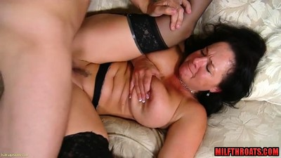 Hot mature titty fuck with..