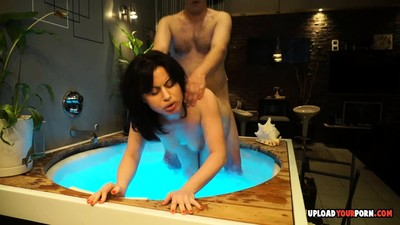 Wife in a hot tub gets..
