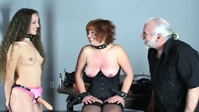 Exposed woman spanking video..