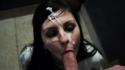 Cock hungry babe sucks very..