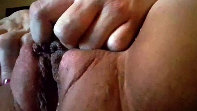 Close up cum hole fingering